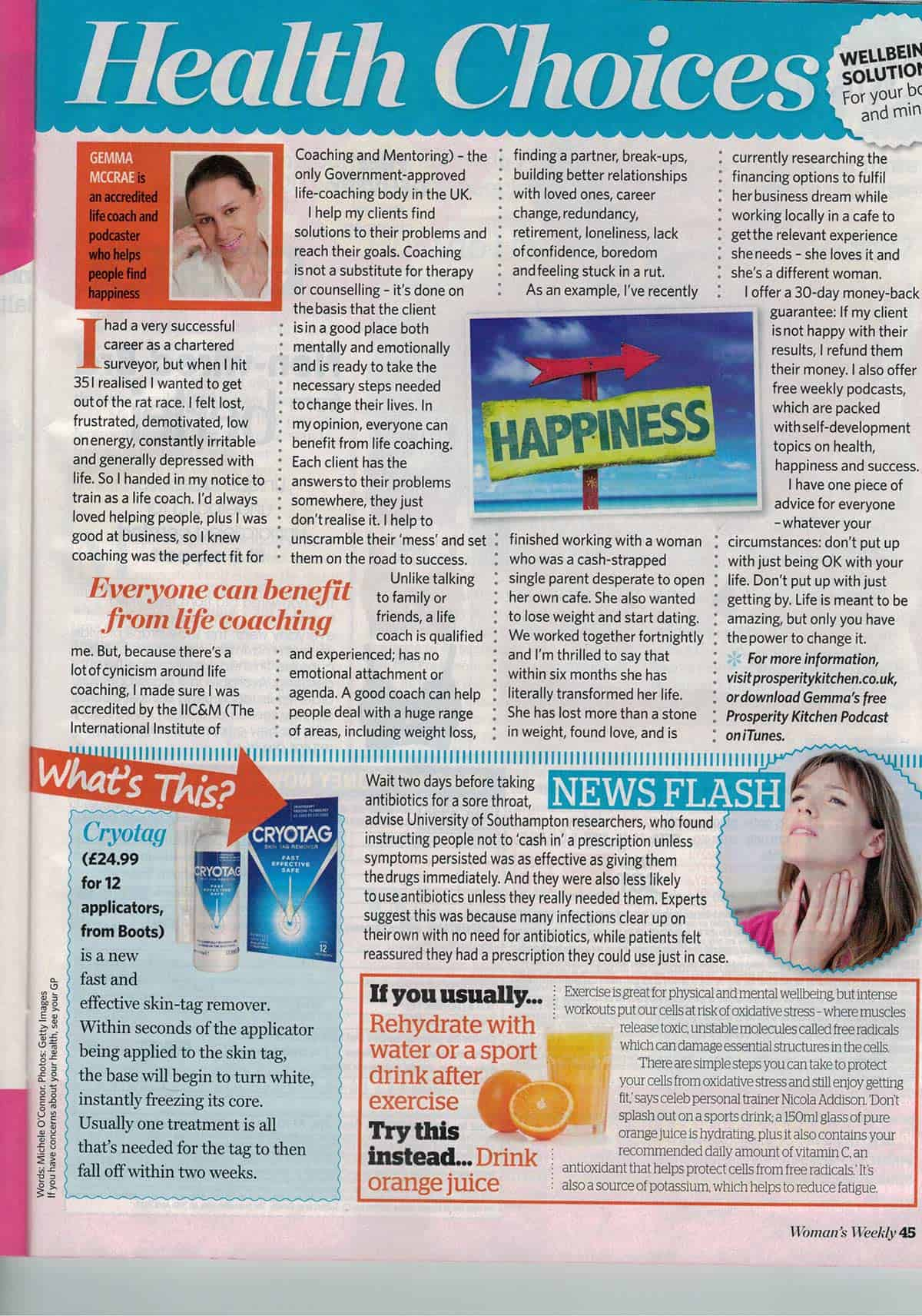 As mentioned in Women's Weekly