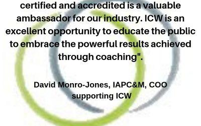 Words of wisdom during ICW from David Monro-Jones, AFC, COO, IAPC&M