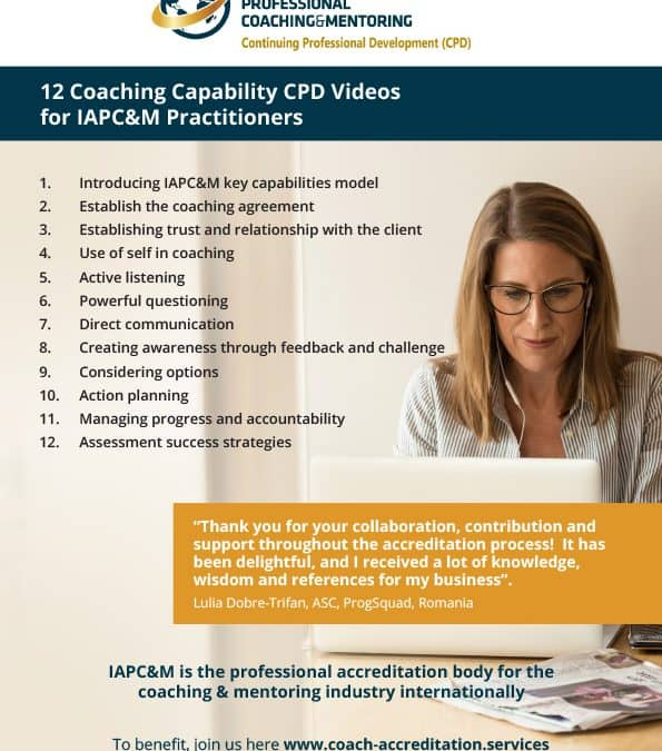 Improve your coaching capabilities with IAPC&M