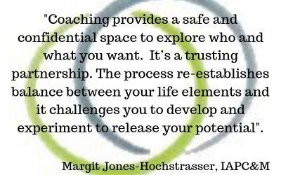 My definition of coaching, Margit Jones-Hochstrasser, IAPC&M