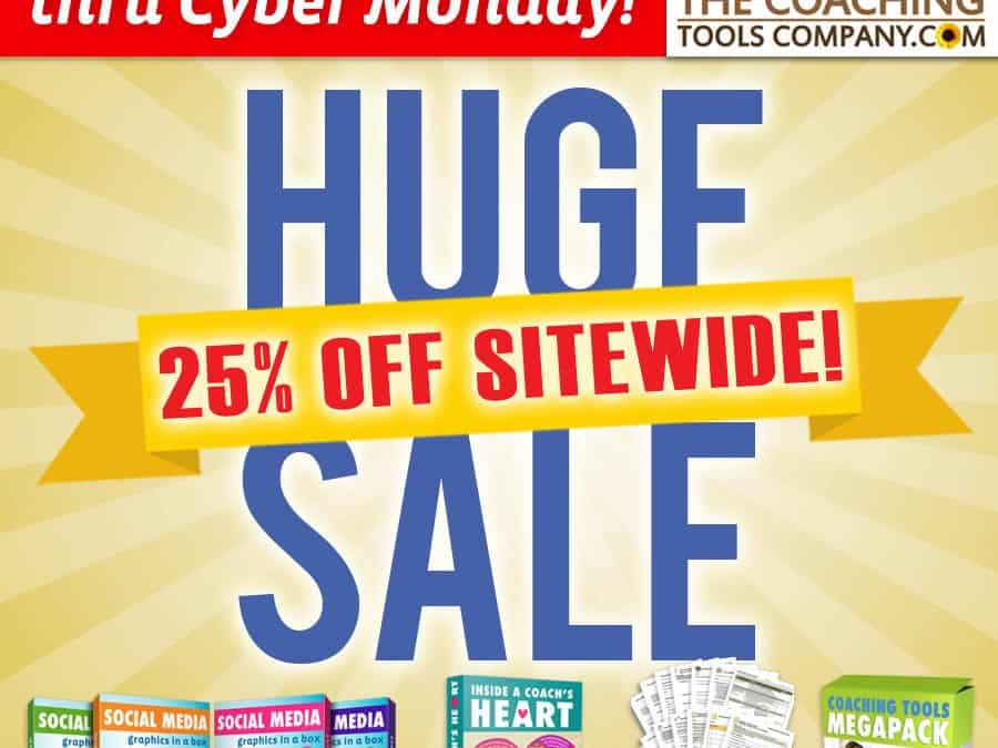 Huge Sale from the Coaching Tools Company