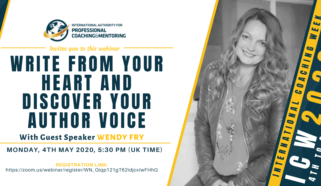 ICW2020: Write from Your Heart and Discover Your Author Voice