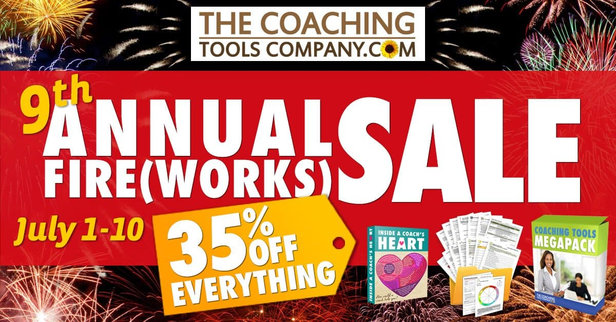 Get 35% In All Coaching Tools Products at the Fireworks Sale 2020!