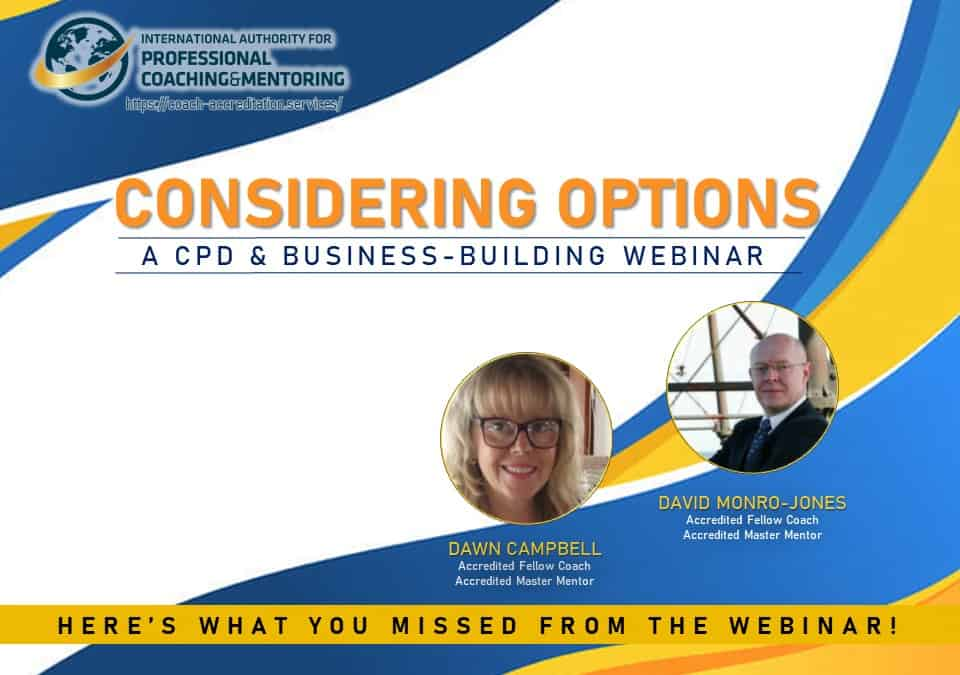 Considering Options – Here's what you missed from the webinar!