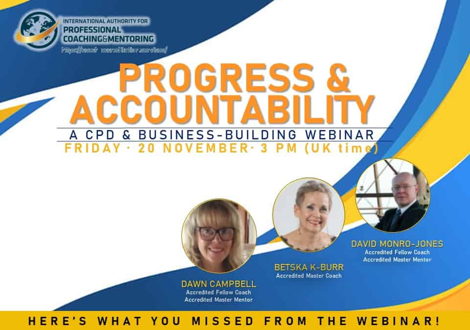 Progress & Accountability – Here's what you missed from the webinar!