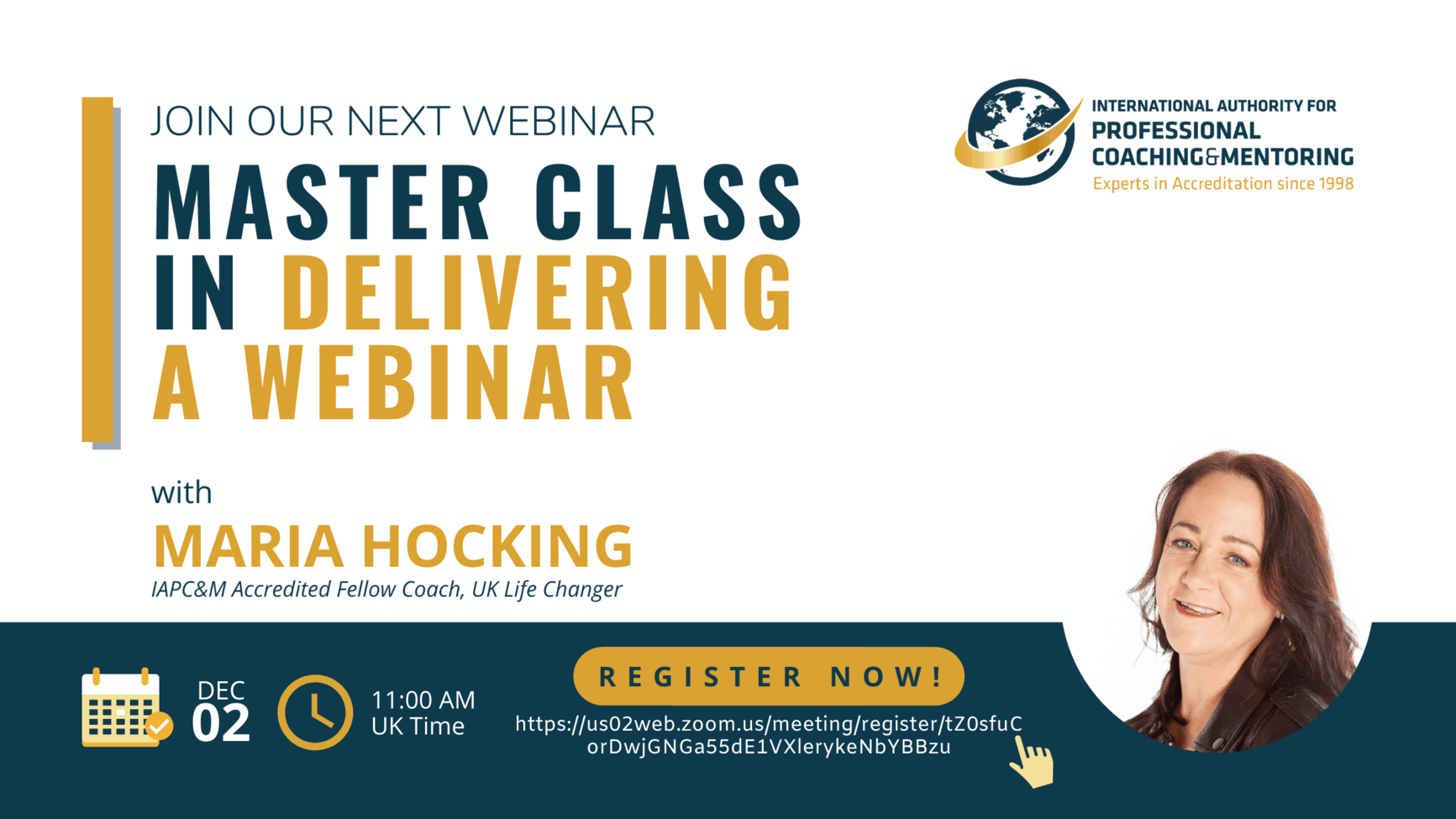 Master Class in Delivering a Webinar