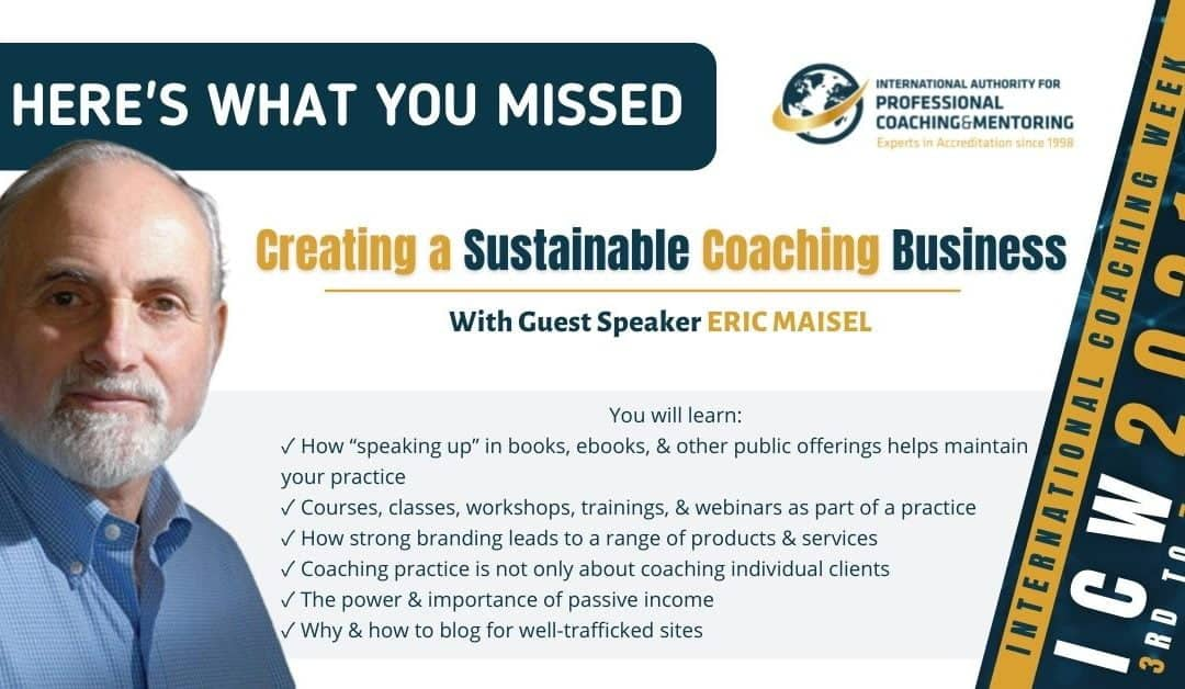 Creating a Sustainable Coaching Business