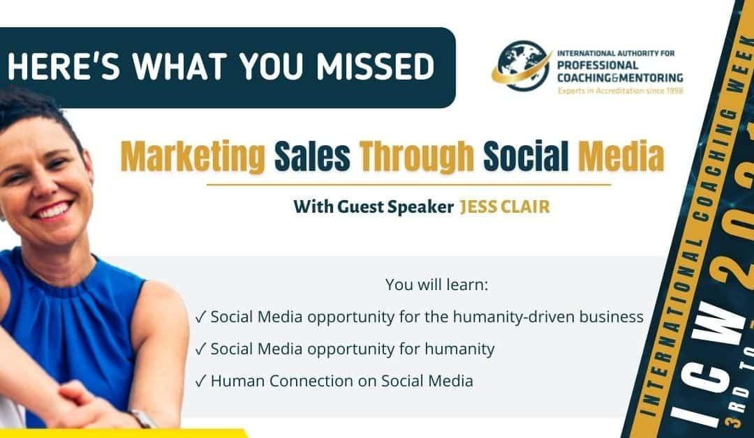 Marketing Sales Through Social Media