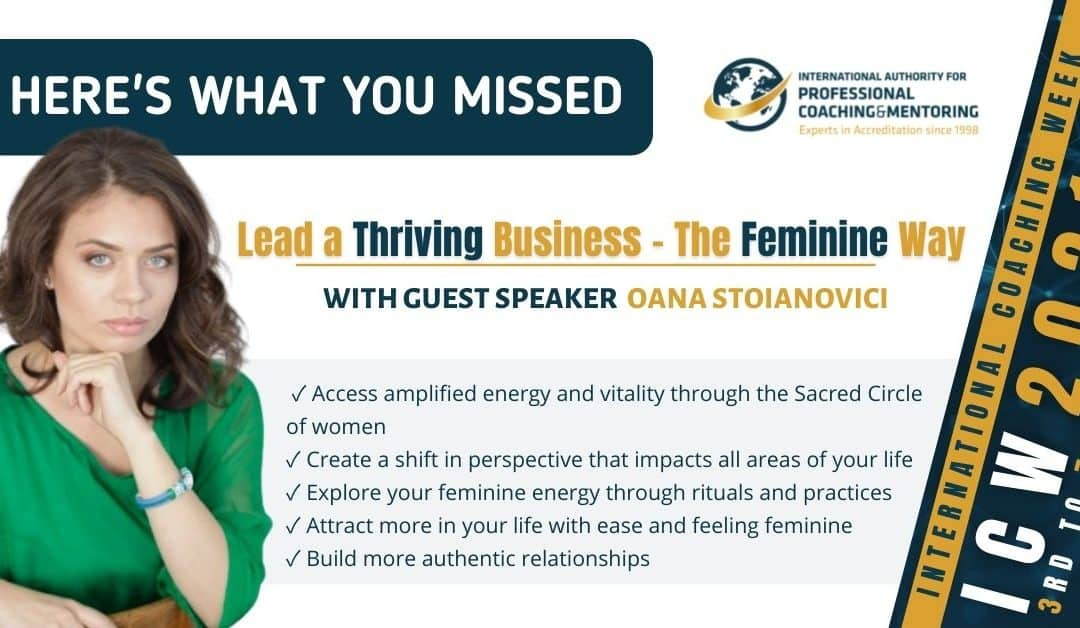 Lead a Thriving Business – The Feminine Way