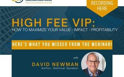 High Fee VIP: How to Maximize Your Value – Impact – Profitability